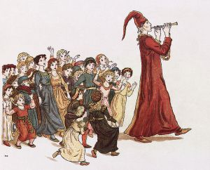 Pied Piper of Hamelin. Illustrations by Kate Greenaway (1846-1901)